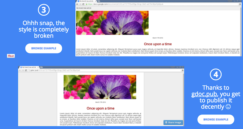 Google Doc Publisher Keeps Your Formatting When You Publish a Document