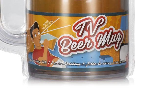 Brilliant Beer Mug Won't Block the TV While You Chug