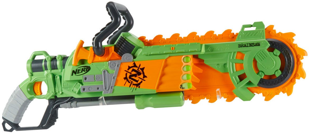 Nerf's New Brainsaw Blaster Includes a Spinning Foam Chainsaw