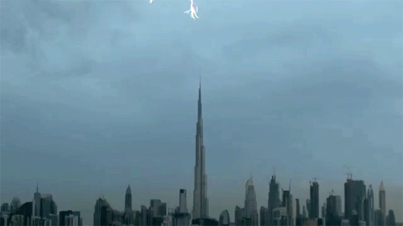 Watch a Spectacular Lightning Show Splinter Across the Skies Over Dubai