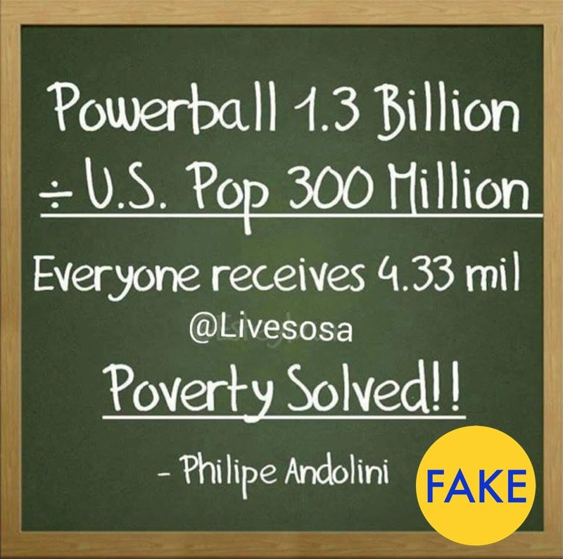 Powerball Maths: $US1.3 ($2) Billion Divided By 300 Million Is Actually $US4.3 ($6)3 ($6)