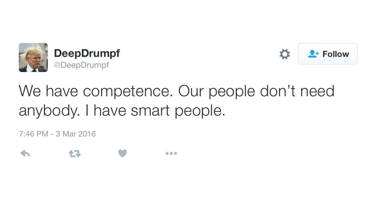 This AI Trump Twitter Bot Sounds Creepily Accurate
