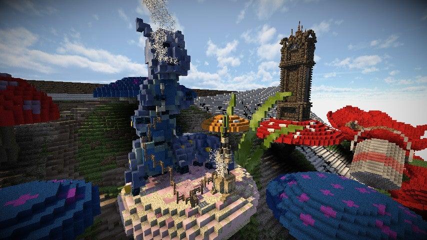 Alice In Wonderland-Based Minecraft Build is Kinda Magnificent
