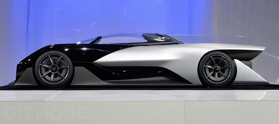 Faraday Future Will Challenge Tesla With This Crazy Electric Batmobile Concept