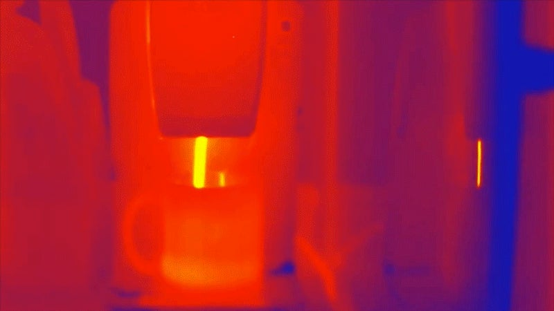A Hot Breakfast Looks Even More Delicious Under a Thermal Camera