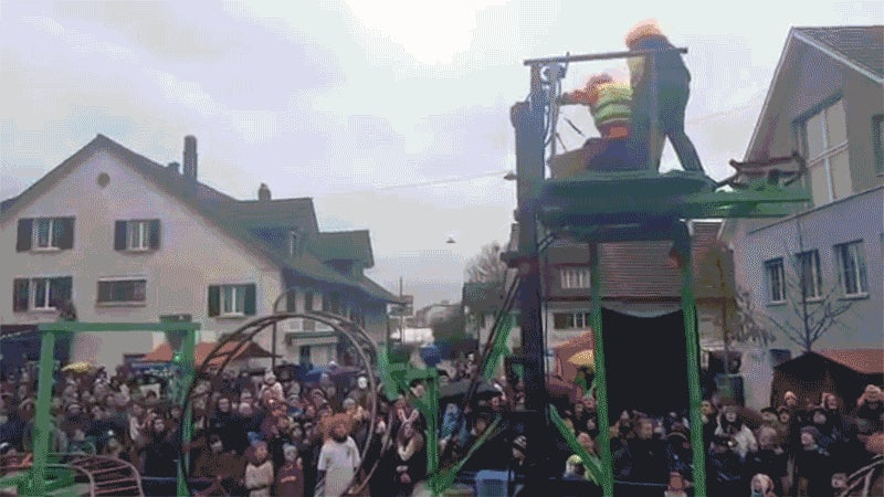 The Best Parade Float Ever Has a Working, Death-Defying Roller Coaster on It