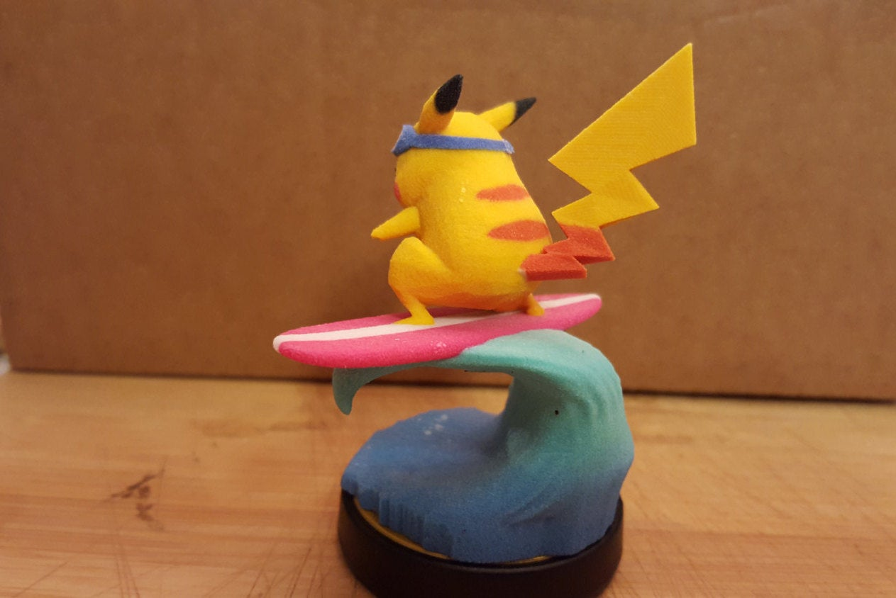 Pikachu Amiibo Learned Surf!