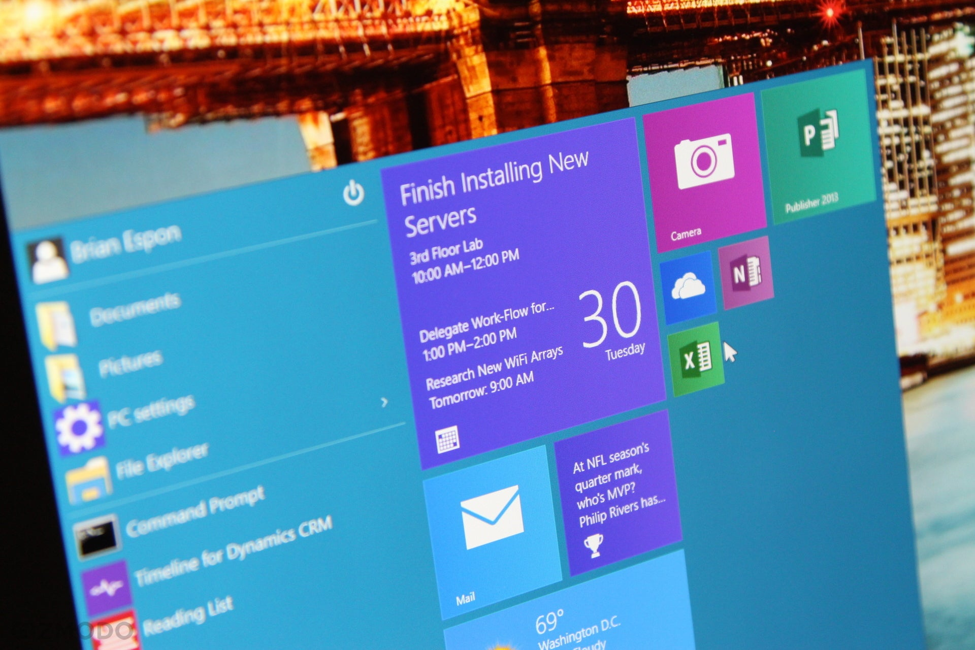 Windows 10 hands on well hello there start menu gizmodo australia