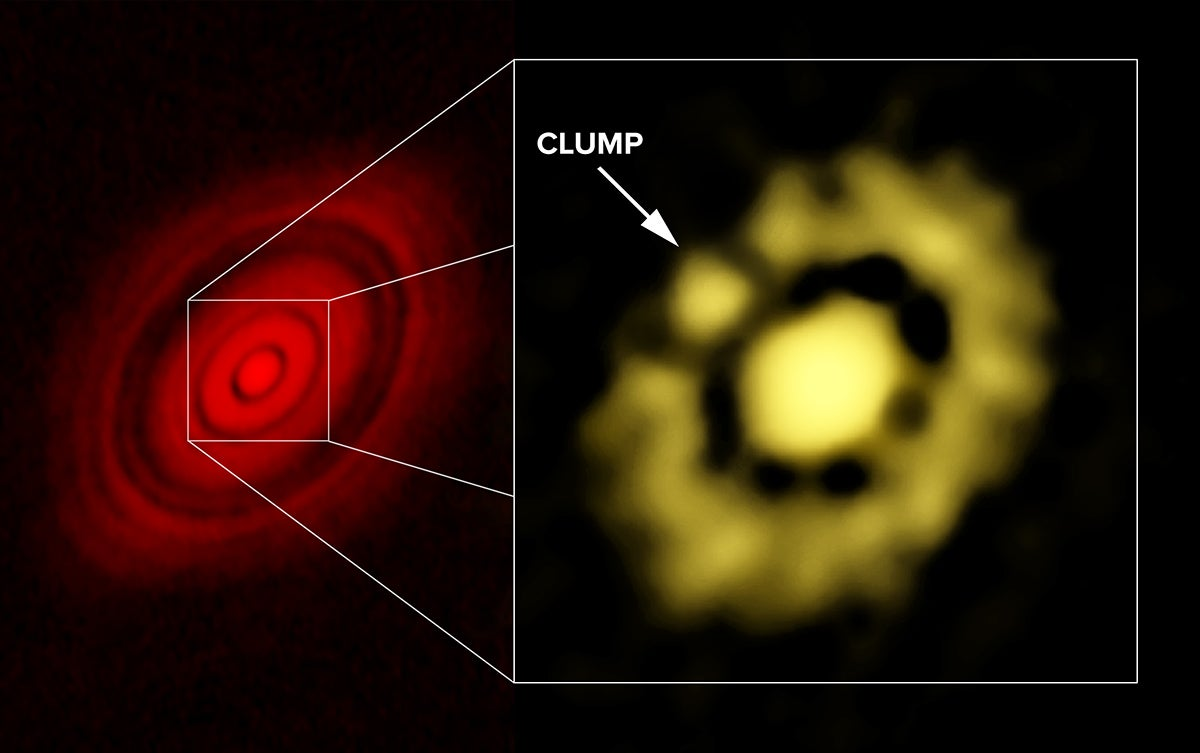This Clump of Dust Might Actually Be a Planet in the Process of Forming