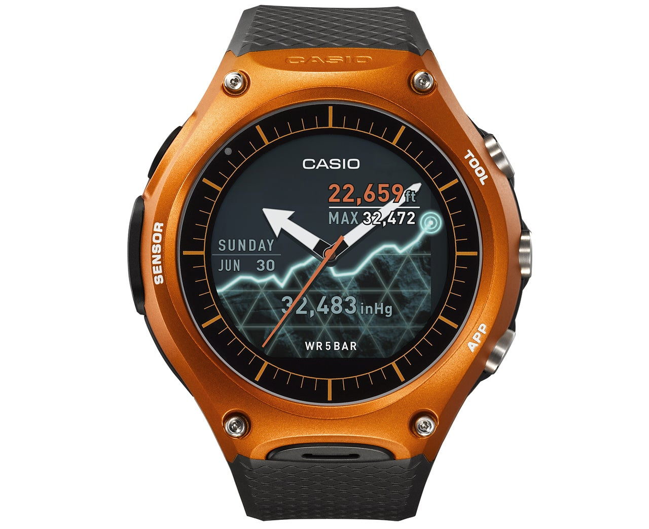 Casio's Sensor-Packed Android Wear Watch Can Survive the Outdoors Longer Than You