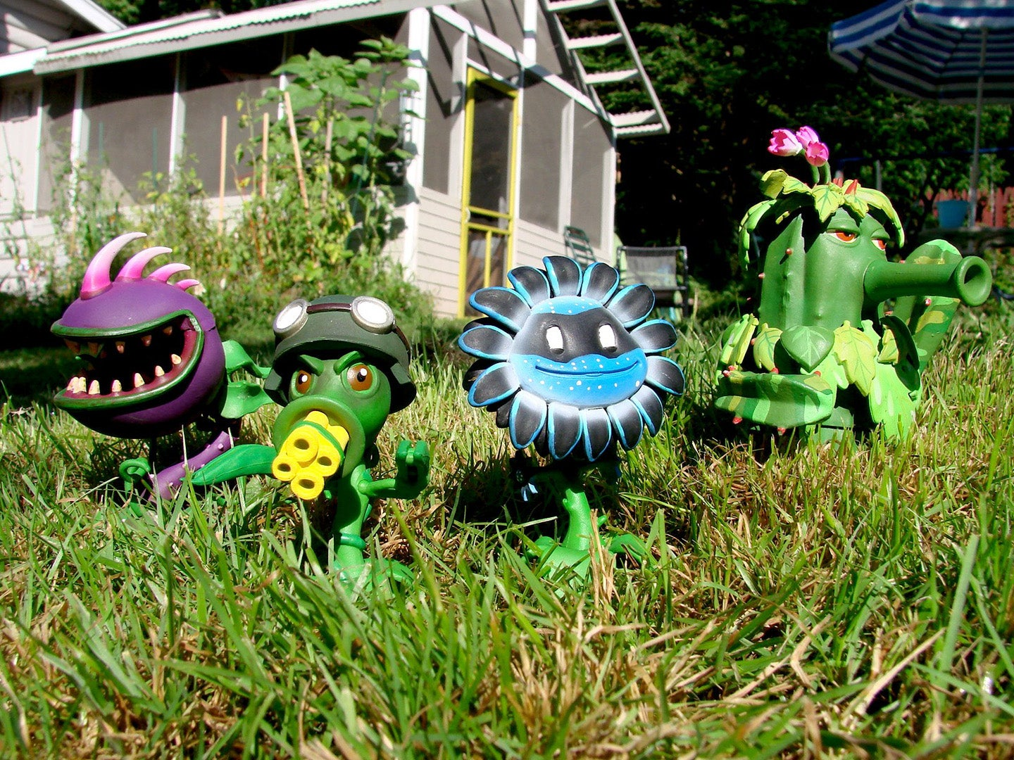 The Plants Vs Zombies Garden Warfare Action Figures Are