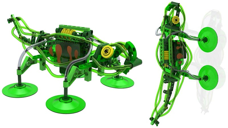Build a Robot Gecko That Climbs Walls Using Suction Cups and Pumps