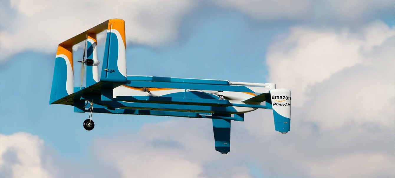 Inside Amazon Prime Air: Multiple Drone Models, Smart Flightpaths, 2kg Parcels