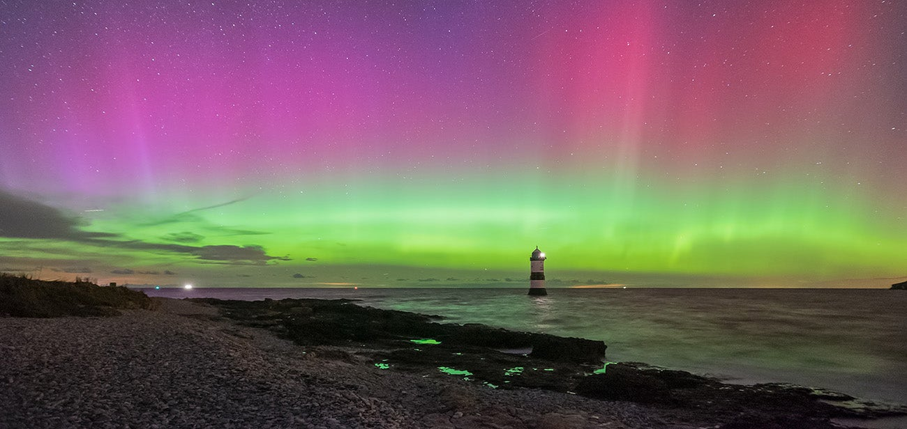 Rare Glimpse of Aurora Borealis Spotted in Southern England Last Night