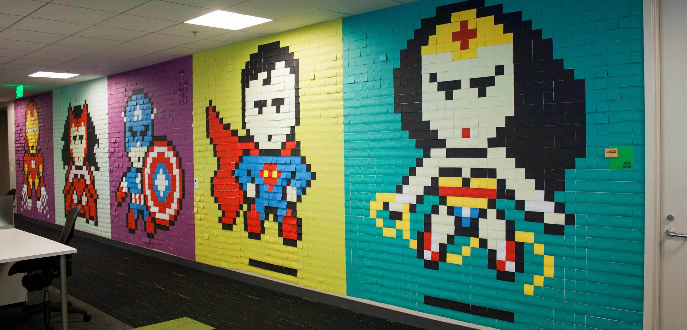 This Guy's Office Post-It Murals Put The Rest Of Us To Shame