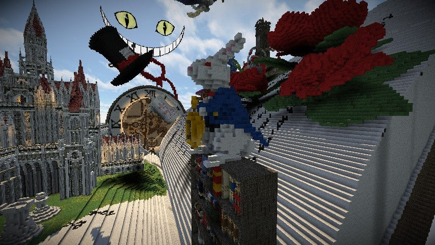 Alice In Wonderland-Based Minecraft Build is Kinda Magnificent