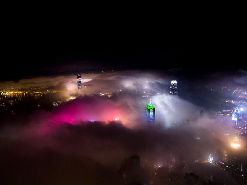 Hong Kong Cloaked In Fog Looks Unreal From The Sky