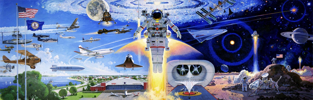 astronaut mural - photo #24