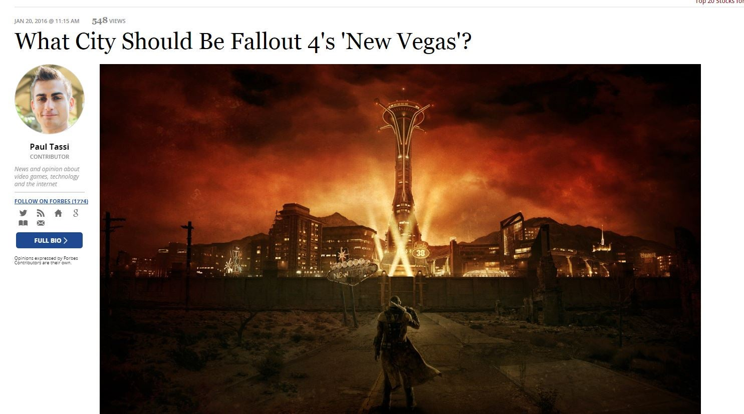 Fans' Intense Love For Fallout: New Vegas Must Be Weird For People At Bethesda