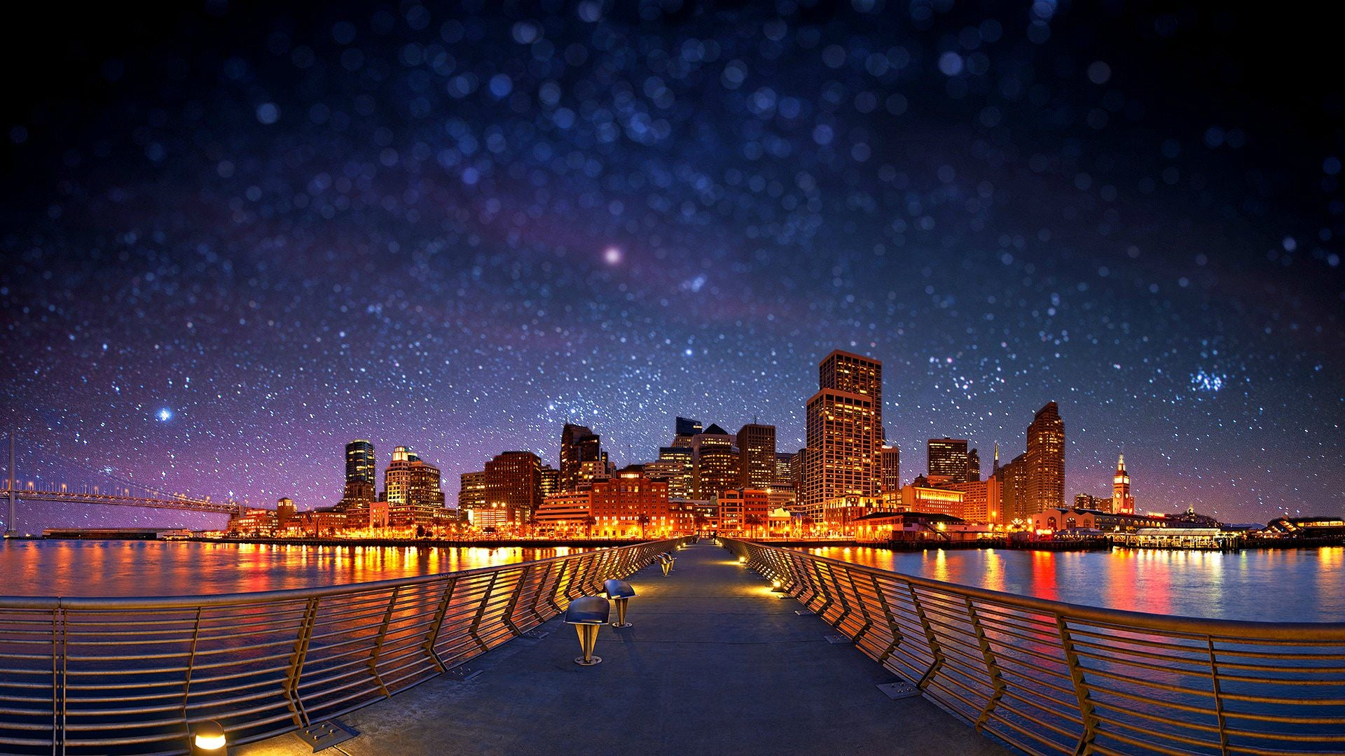 Weekly wallpaper enchant your desktop with these starry for In the city wallpaper