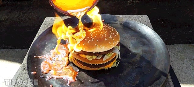 It Takes a Shocking Amount of Molten Copper to Destroy a Big Mac