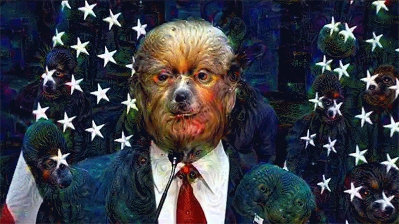 Some Sadist Ran a Donald Trump Speech Through Google's Neural Network
