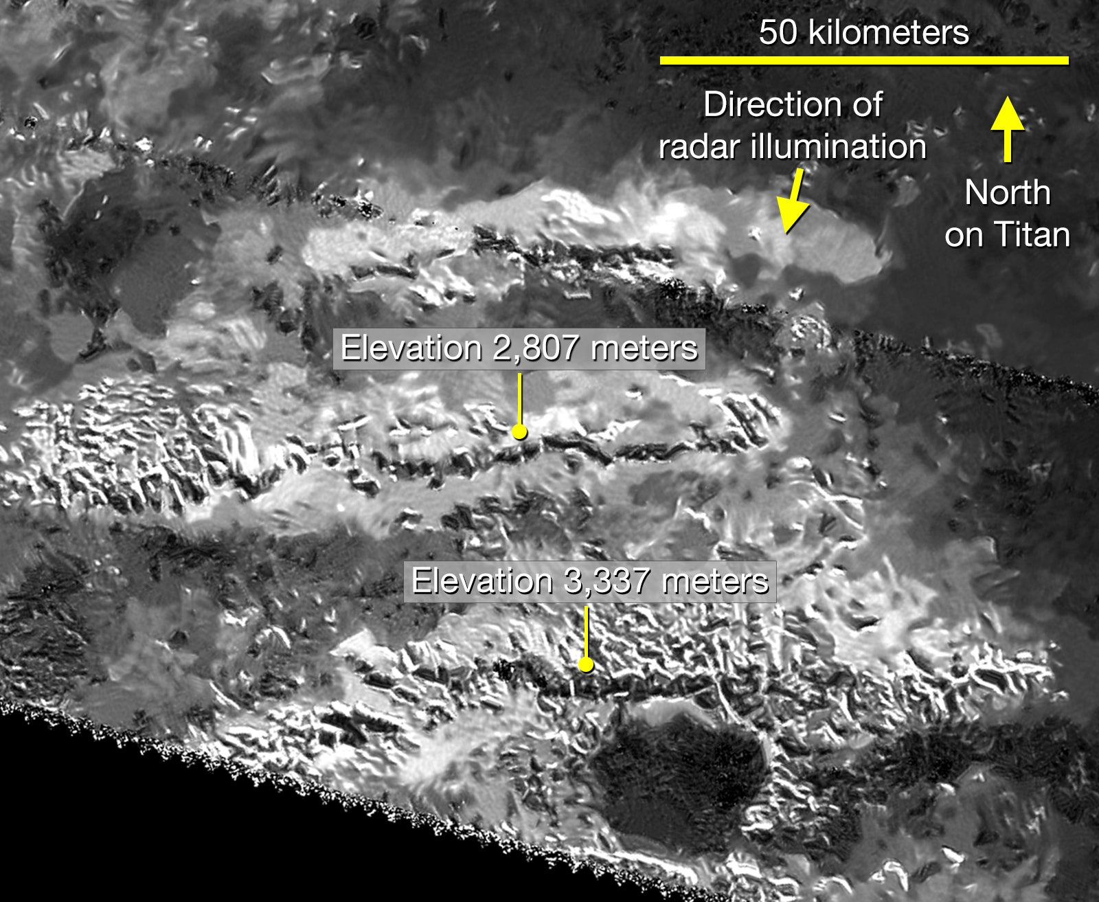 There's a Giant Ice Mountain on Saturn's Largest Moon