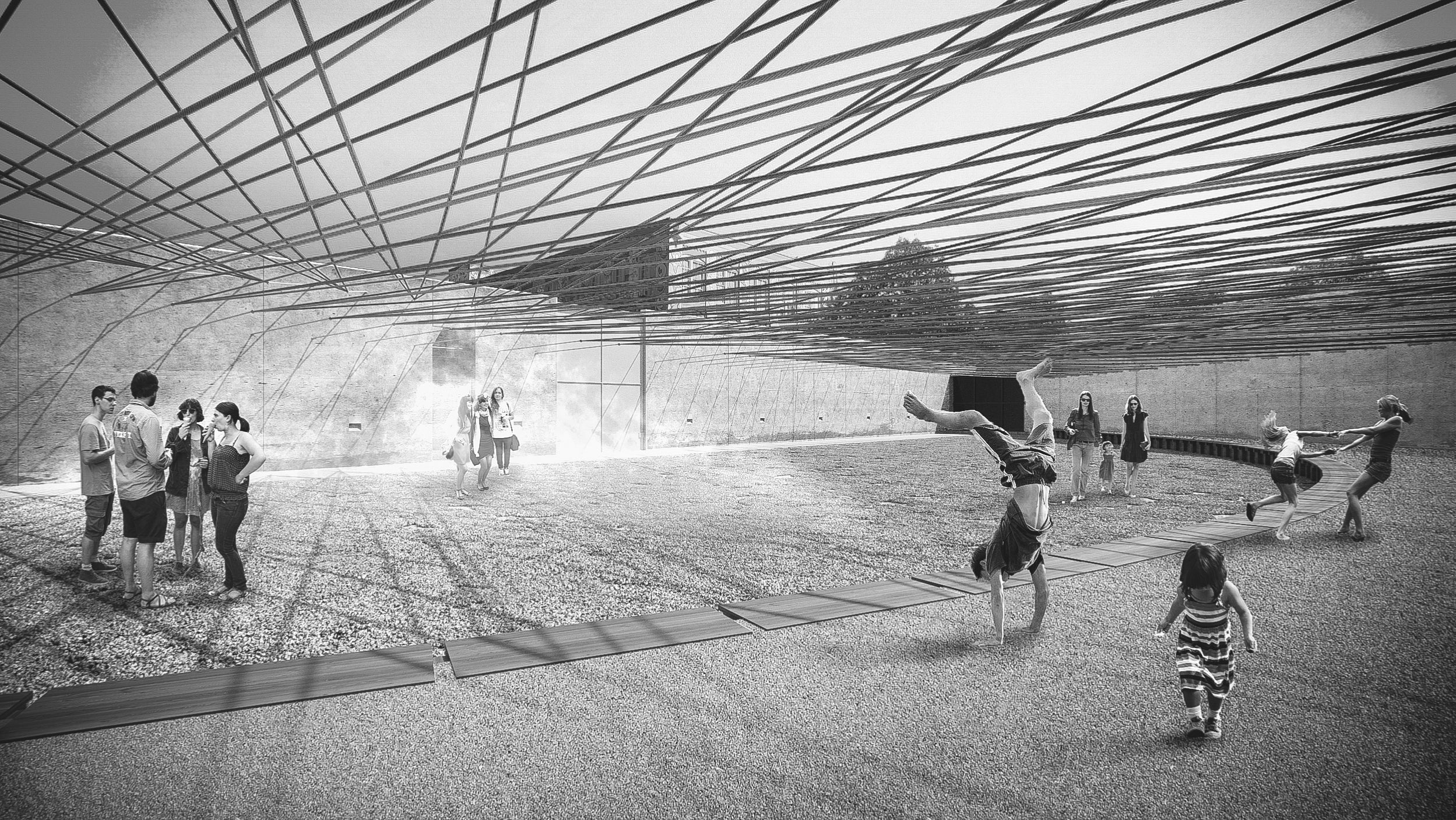 Designers Will Knit a Neon Rope Canopy Over MoMA's Concrete Courtyard This Summer