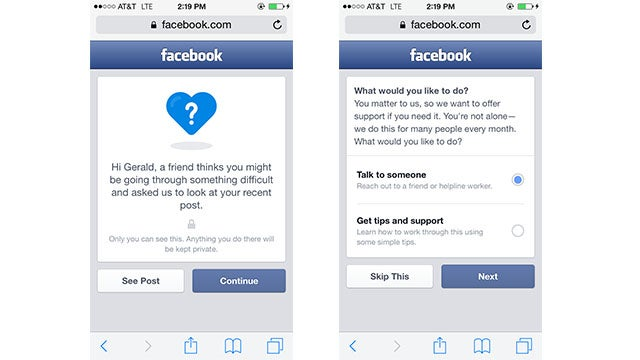Facebook's New Suicide Prevention Tools Finally Get It Right