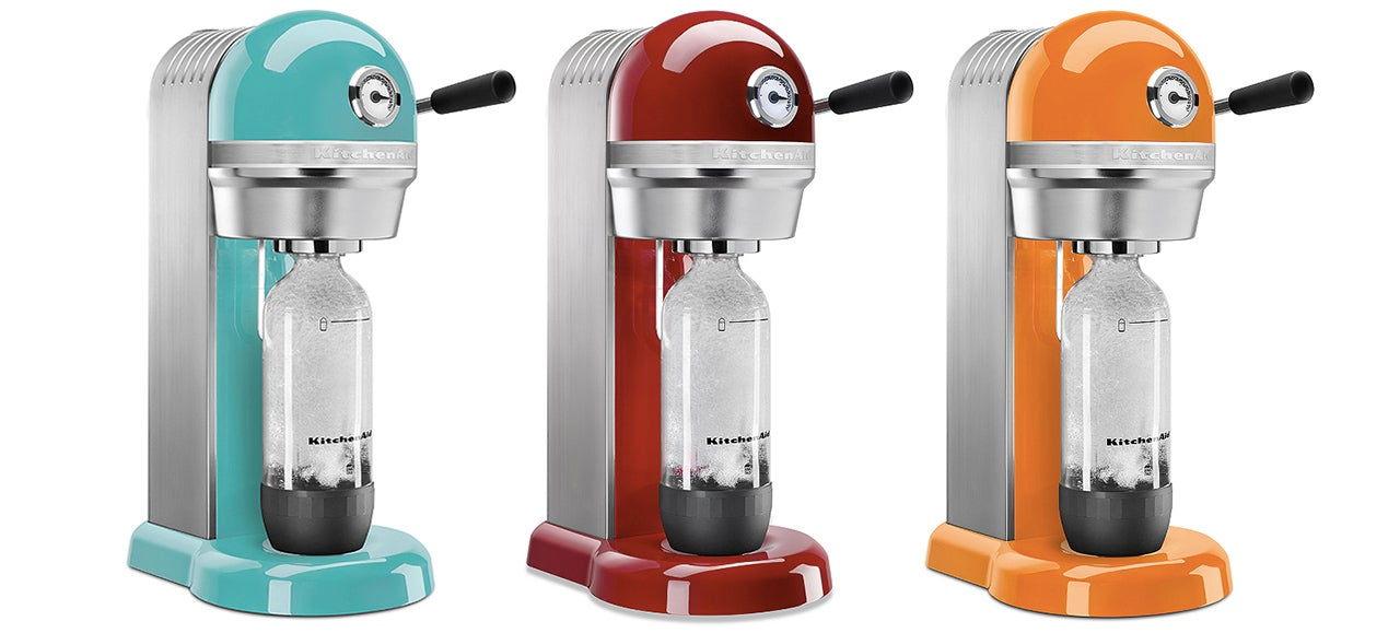 kitchenaid 39 s sodastream machines look transplanted from a 39 50s restaurant gizmodo australia. Black Bedroom Furniture Sets. Home Design Ideas