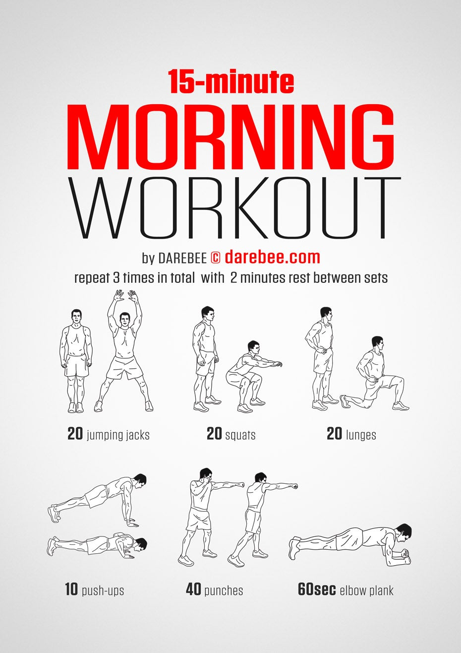 The 15-Minute Morning Workout You Can Do Anywhere