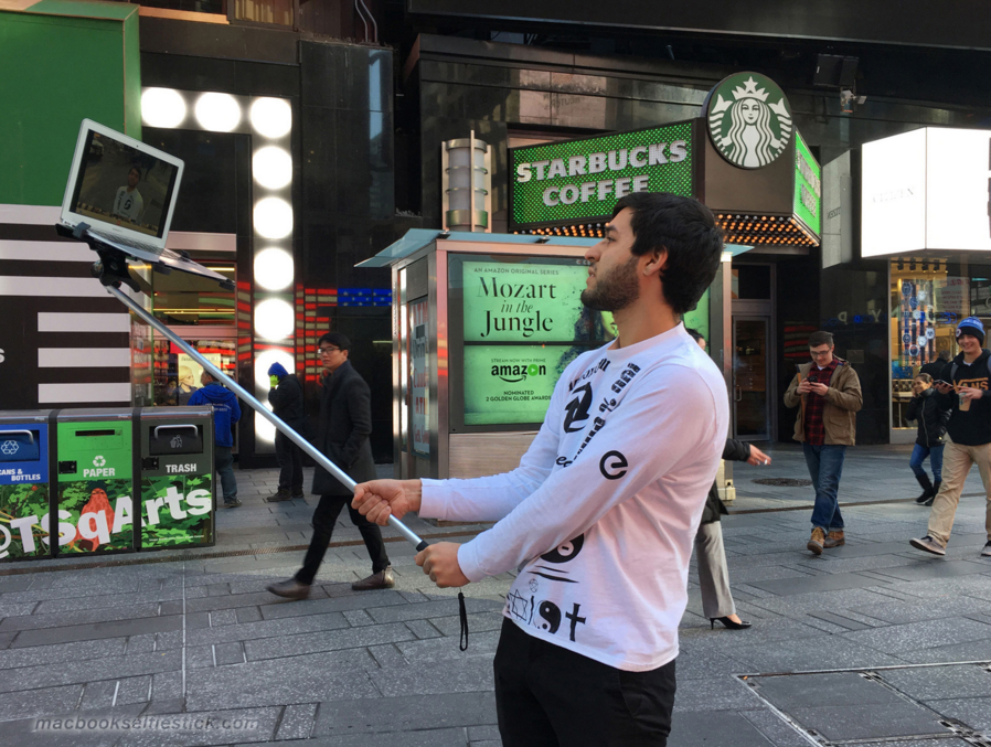 MacBook Selfie Stick Is an Innovation the World Desperately Needs