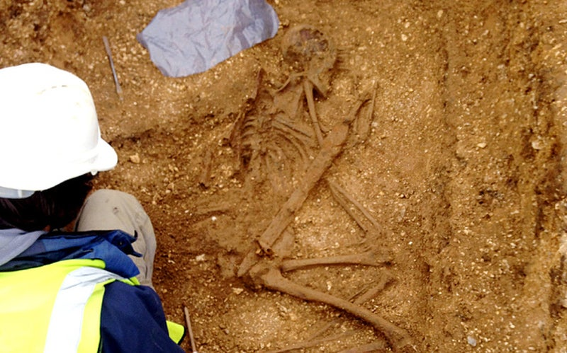 Ancient Warrior Found Buried With Ritualistic Spears Stabbed Into His Body