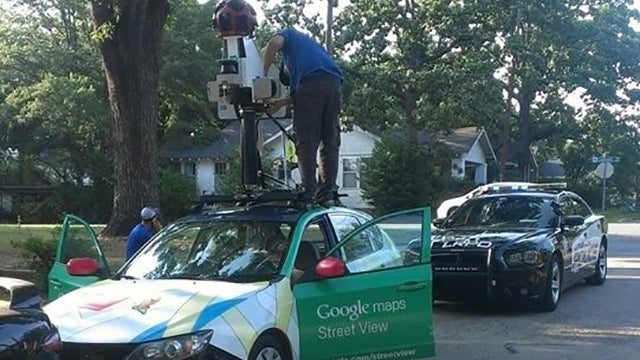 Confused Google Street View Driver Ignores Street Signs, Crashes