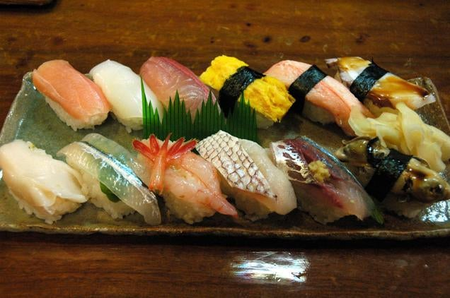 The man who invented sushi kotaku australia for Sushi fish names