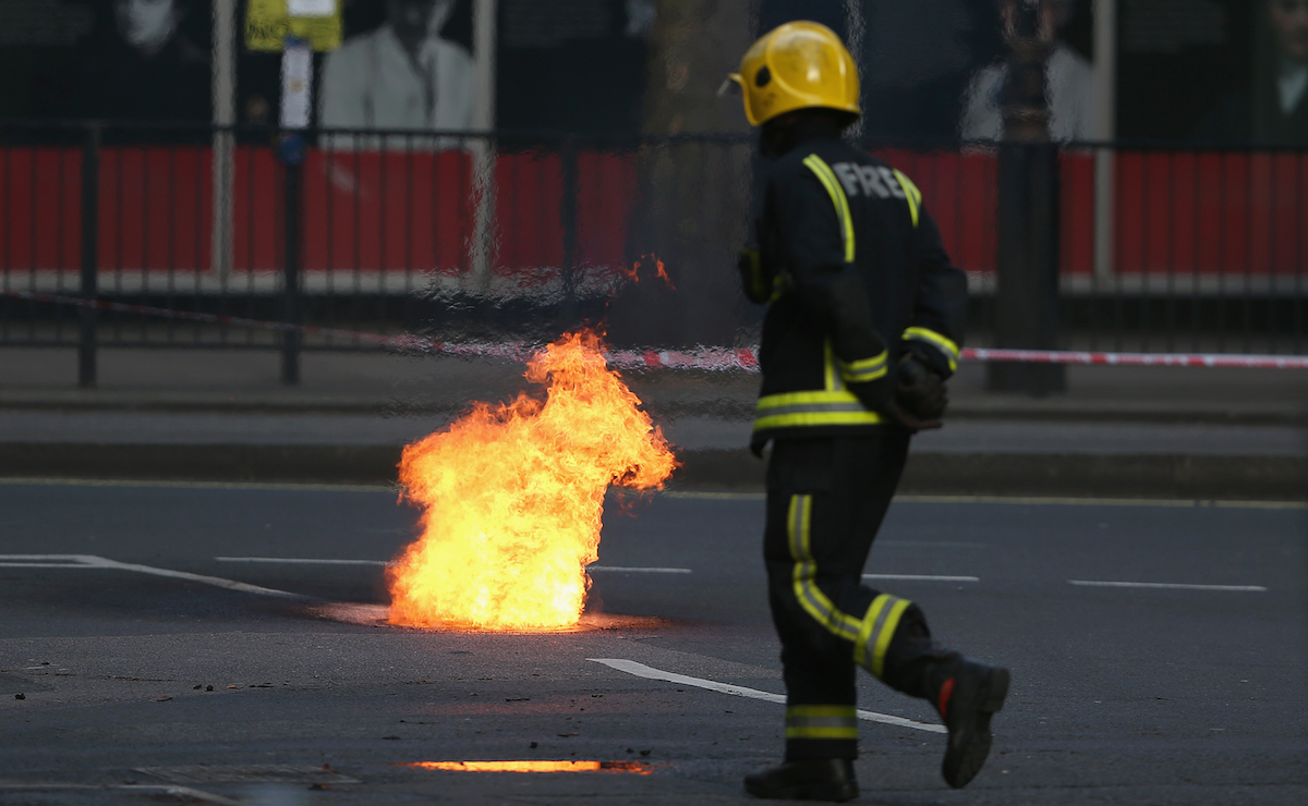 A Fire Has Raged Beneath London For 24 Hours Straight