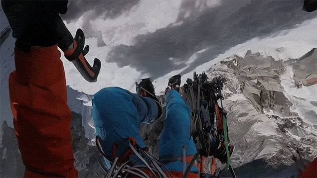 The First Person View of Climbing a Snowy 6,706m Tall Mountain Is a Little Bit Terrifying