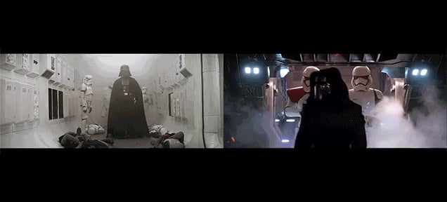 A Side-By-Side Shot Comparison of Star Wars: The Force Awakens and the Original Star Wars