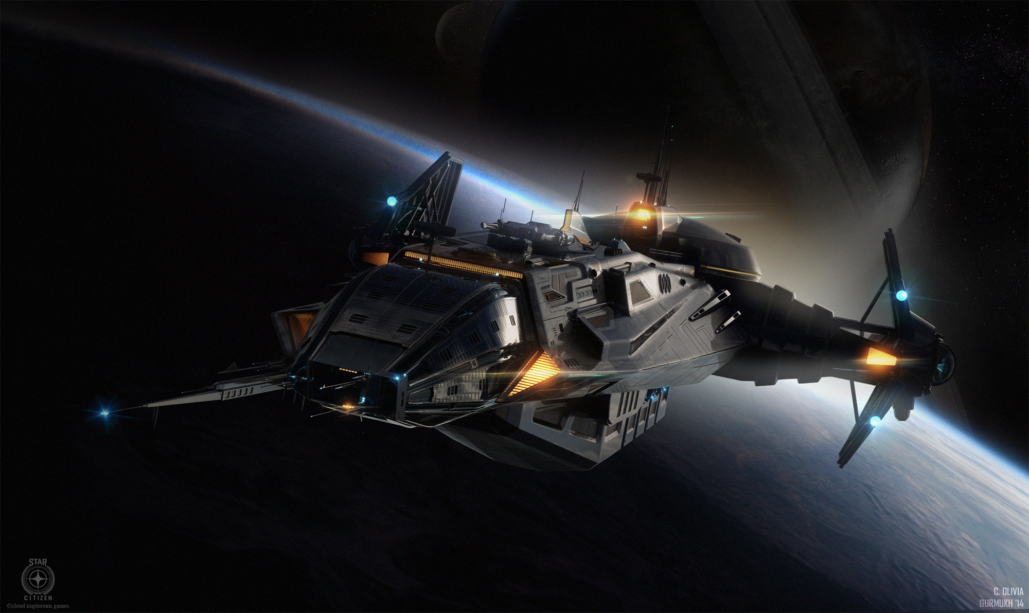 I Want To Live In This Cool Spaceship From Star Citizen ...