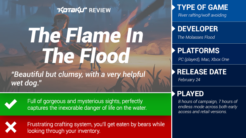 The Flame In The Flood: The Kotaku Review