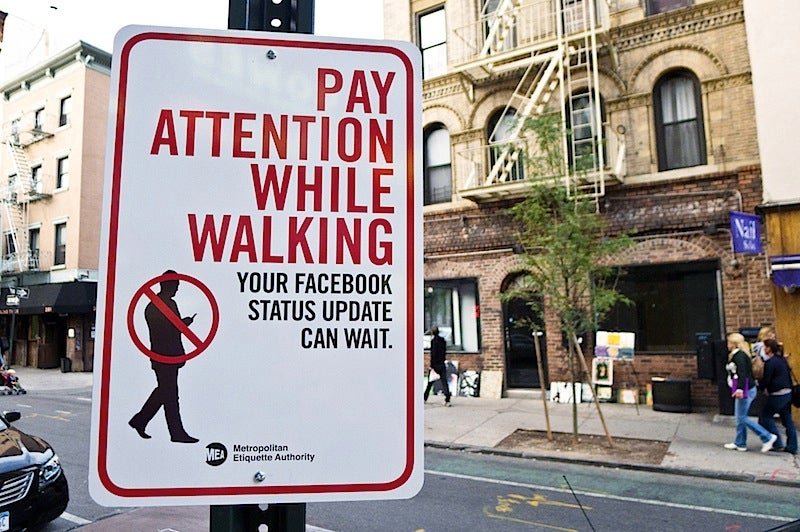 Smartphones Don't Kill Pedestrians, Cars Do