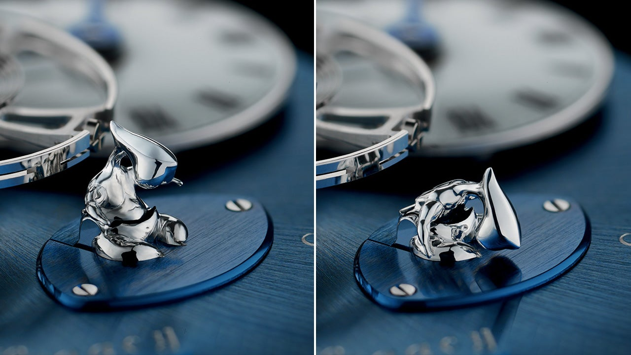 The Tiny Figure On This Watch Gets Tired When It Needs a Winding