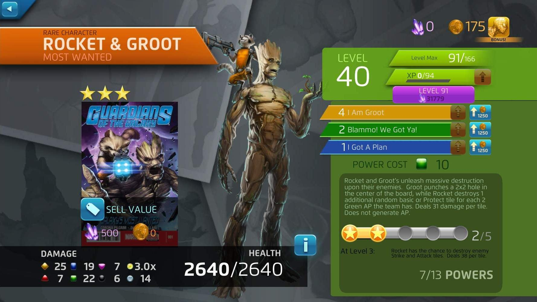 meet rocket and groot marvel puzzle quest