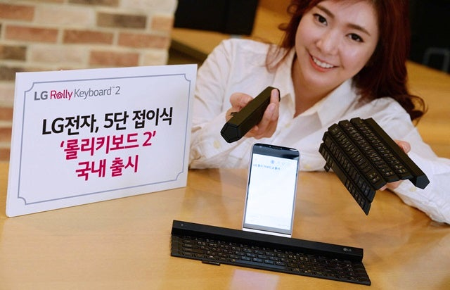 LG Made Its Rollable Keyboard More Useful By Adding a Fifth Row of Keys
