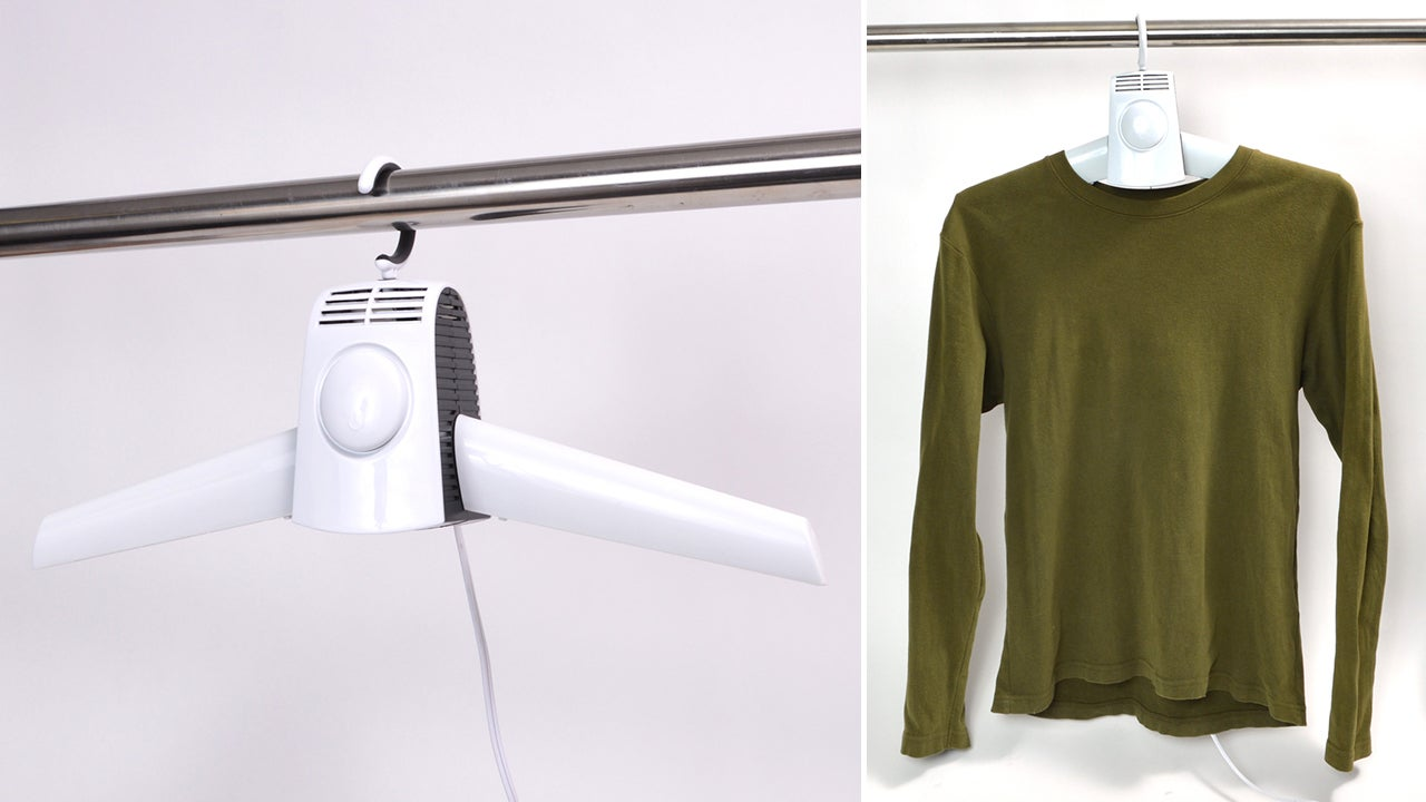 A Clothes Drying Hanger Saves You a Trip to the Laundromat
