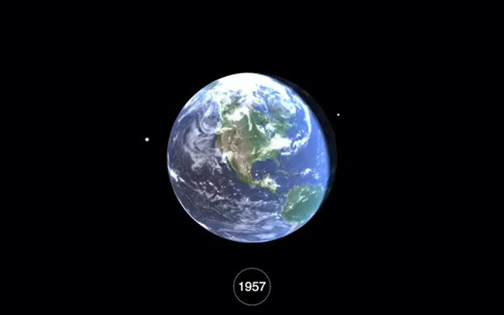 Watch 60 Years Of Space Junk Accumulate Around Earth