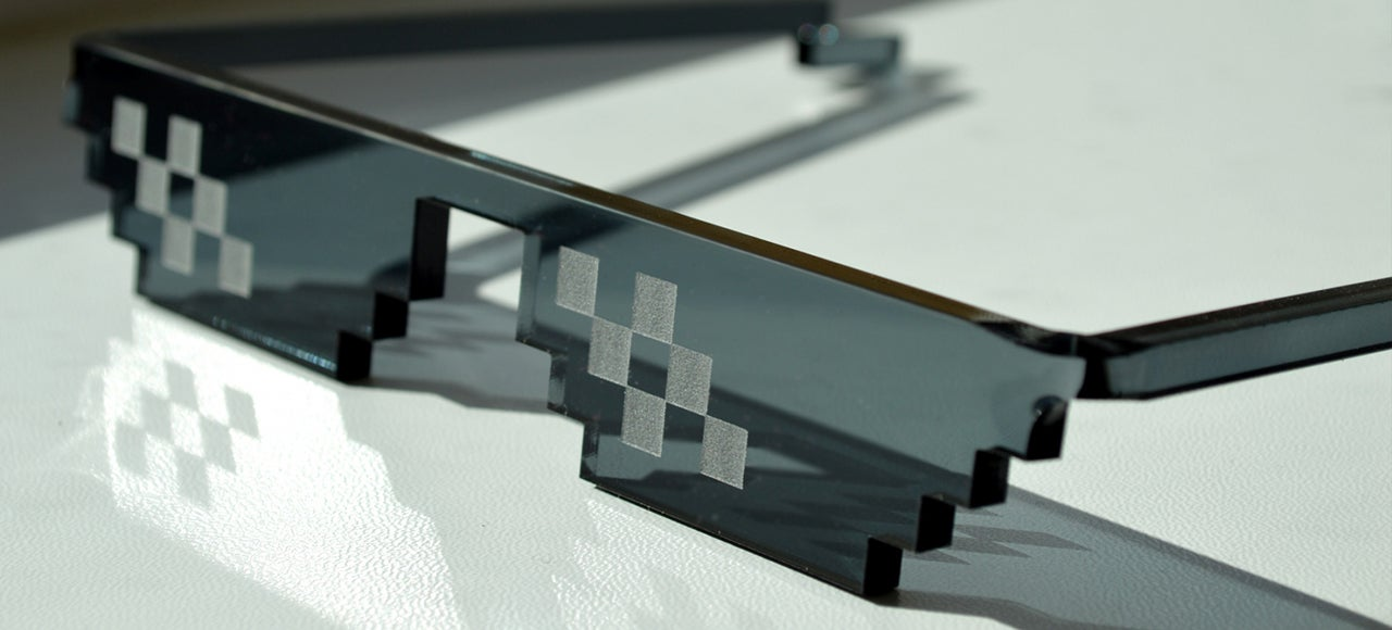 8-Bit Pixel Sunglasses Implore Everyone Around You to Deal With It