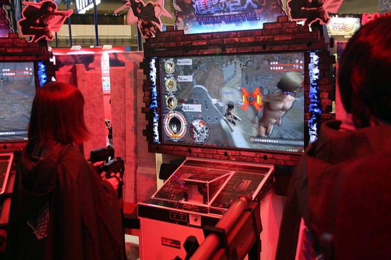 The New Attack on Titan Arcade Game Has Sweet Controllers