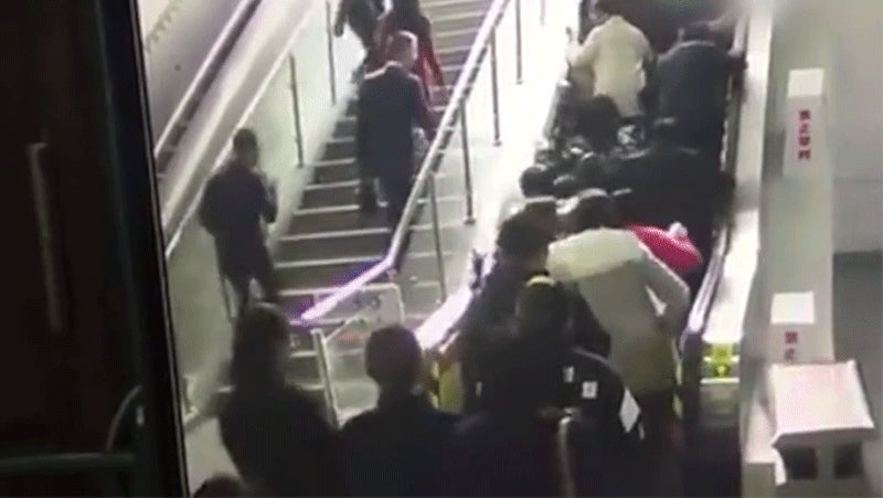 A Human Avalanche Is What Happens When an Escalator Suddenly Reverses