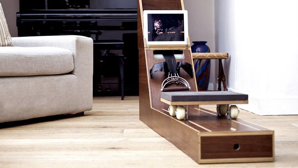 Watch This Tiny Side Table Transform Into a Full-On Rowing Machine